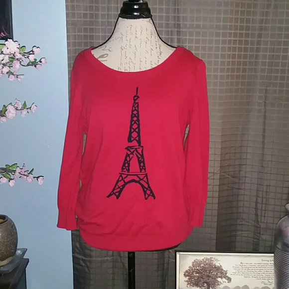 jcpenney Tops - Red half sleeve sweater